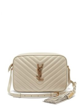 Lou Chevron Quilted Leather Cross Body Bag by Saint Laurent