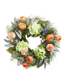 "Faux Rose & Hydrangea 22"" Wreath by Pier1 Imports"
