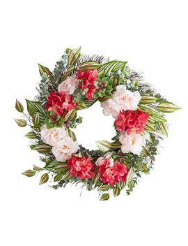 "Pink Faux Peony & Hydrangea 22"" Wreath by Pier1 Imports"