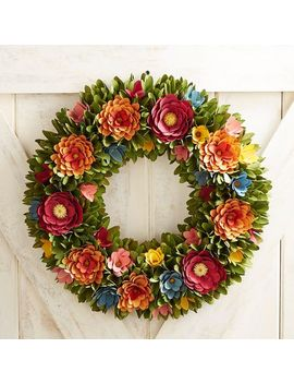 "Multicolor Wood Curl 19"" Wreath by Pier1 Imports"