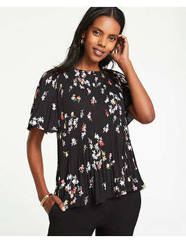 Meadow Floral Pleated Top by Ann Taylor
