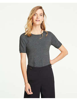 Petite Short Sleeve Sweater by Ann Taylor