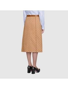 Gg Canvas Skirt by Gucci