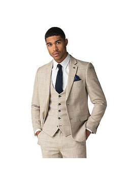 Harding Cream Tweed Style Check Suit by Marc Darcy