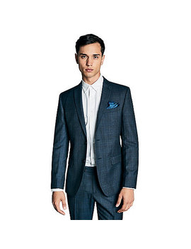 Blue Tonal Check Athletic Suit by Hammond & Co. By Patrick Grant