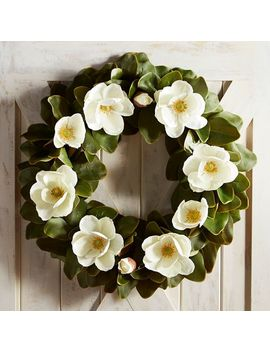 "Faux Magnolia Oversized 28"" Wreath by Pier1 Imports"