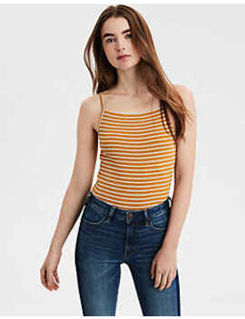 Ae Apron Neck Bodysuit by American Eagle Outfitters