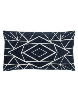 Rizzy Home Geometric Center Diamond Decorative Pillow by Rizzy Home