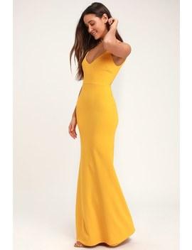 Infinite Glory Golden Yellow Maxi Dress by Lulus