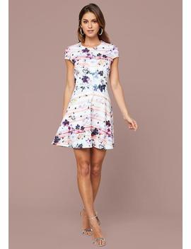 Grace Print Dress by Bebe
