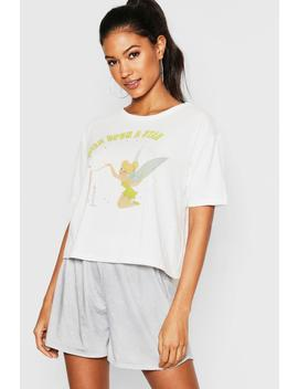 Disney Tinkerbell Pj Short Set by Boohoo