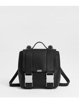 Clip Leather Mini Backpack by Allsaints