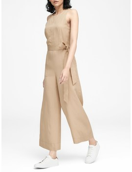 Tencel™ Cropped Wide Leg Jumpsuit by Banana Repbulic