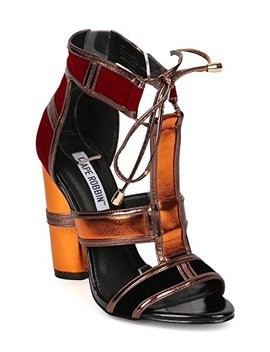 Cape Robbin Women Mixed Media Open Toe Color Block Chunky Heel Sandal Hj91 by Cape Robbin