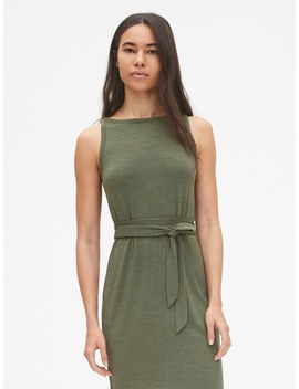 softspun-sleeveless-tie-belt-midi-dress by gap