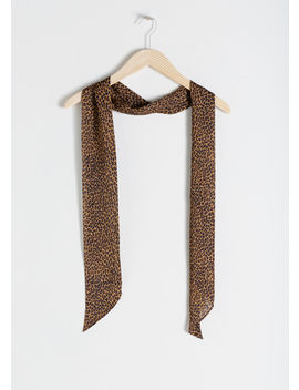 Leopard Print Neck Tie by & Other Stories