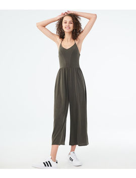 Solid Sandwashed Jumpsuit by Aeropostale