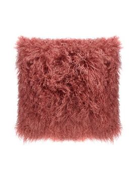 Home Collection   Pink Sheepskin Cushion by Home Collection