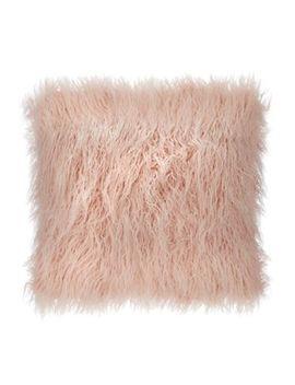 Debenhams   Pink Faux Mongolian Fur Cushion by Debenhams