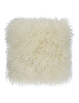 Home Collection   Cream Sheepskin Cushion by Home Collection