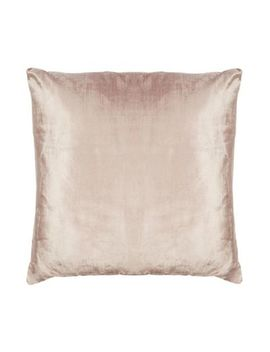 Home Collection   Dusky Pink Textured Velvet Cushion by Home Collection