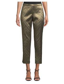 Osmond Metallic Brocade  Ankle Length Pants by Trina Turk