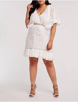 Plus Size Crochet Embroidered Dress by Charlotte Russe