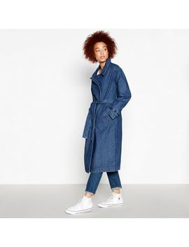 Levi's   Blue Belted Denim Cotton Trench Coat by Levi's