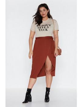 It's A Wrap Midi Skirt by Nasty Gal
