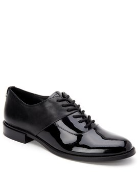 Aracely Leather And Patent Dress Oxfords by Calvin Klein