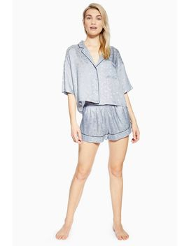 Space Jacquard Pyjama Shorts by Topshop