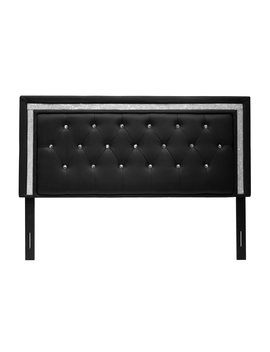 Best Master Furniture Tufted Vinyl Upholstered Headboard by Best Master Furniture