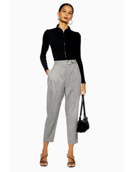 Double Button Tapered Trousers by Topshop