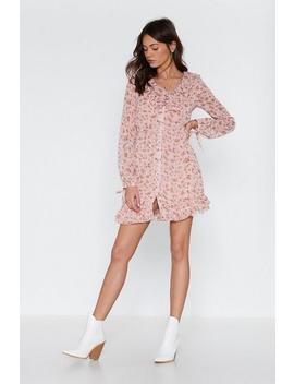 Shimmy Shimmy More Floral Ruffle Dress by Nasty Gal
