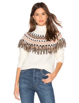 Wild And Free Fringe Knit Sweater by Minkpink