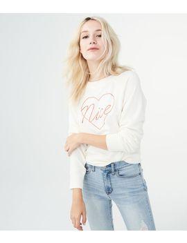 Lld Nice Heart Yummy Sweatshirt by Aeropostale