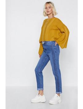 On The Sidelines Mom Jeans by Nasty Gal