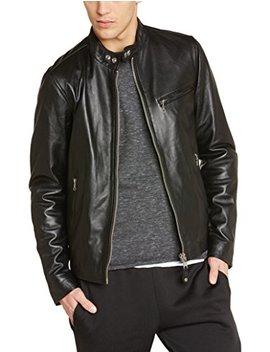 Schott Nyc Men's Lc949 D Leather Long Sleeve Jacket by Schott Nyc