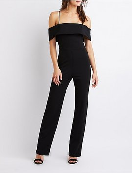 Off The Shoulder Jumpsuit by Charlotte Russe