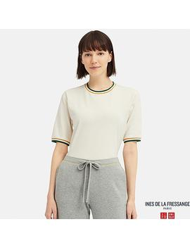 Women Cotton Line Crew Neck Short Sleeve T Shirt (Ines De La Fressange) by Uniqlo