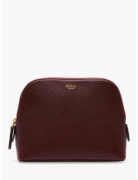 Mulberry Natural Grain Leather Cosmetic Pouch, Oxblood by Mulberry