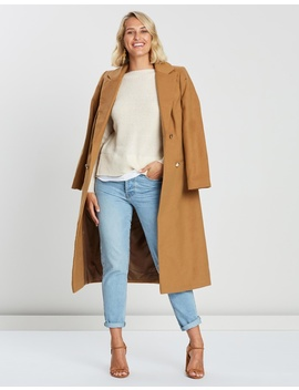 Longline Belted Coat by Dorothy Perkins