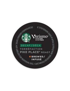 Starbucks® Verismo™ 12 Count Decaf Pike Place® Roast Brewed Coffee Pods by Bed Bath And Beyond