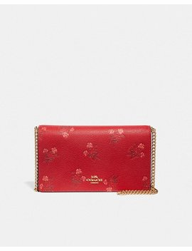 Lunar New Year Callie Foldover Chain Clutch With Floral Bow Print by Coach