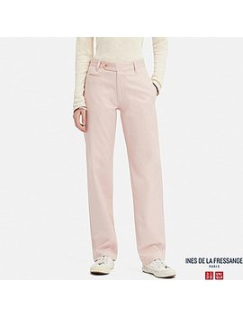 Women Cotton Chino Pants (Ines De La Fressange) by Uniqlo
