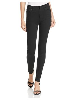 Barbara High Rise Skinny Jeans In Black by Hudson