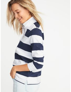 Rugby Stripe Polo For Women by Old Navy