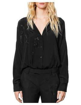 Tamara Strass Blouse by Zadig & Voltaire