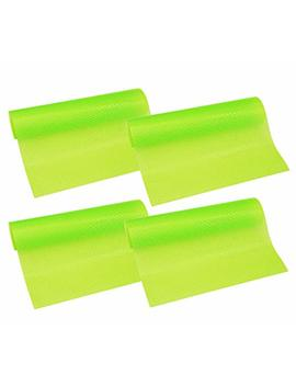"""Hity Tech 4 Pack Refrigerator Mats, Eva Refrigerator Liners Washable Can Be Cut Refrigerator Pads Fridge Mats Drawer Table Placemats/Size 17.7"""" X 11.8""""   Green by Hity Tech"""