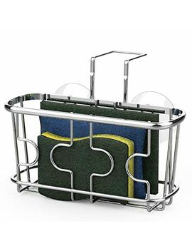 Simple Houseware Kitchen Sink Caddy Organizer For Brush Sponge Holder, Chrome by Simple Houseware